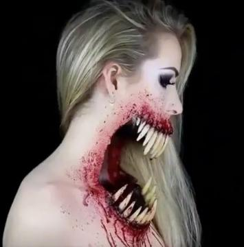 Amazing make up by a pretty women